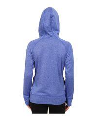Adidas   Blue Ultimate Fleece Logo Pullover Hoodie   Lyst