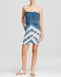Young Fabulous & Broke - Blue Freya Tie-dye Print Dress - Lyst