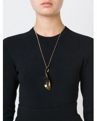 Chloé Metallic Leaf Style Pendant Necklace