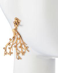 Oscar de la Renta - Metallic Crystal Vine Clip-on Earrings - Lyst