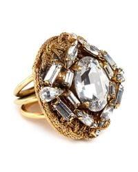 Erickson Beamon | Metallic 'damsel' Cubic Zirconia Cluster Ring | Lyst