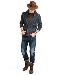 Denim & Supply Ralph Lauren Blue Wool Shawl-collar Cardigan for men