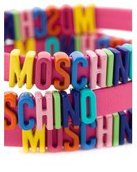 Moschino | Multicolor Logo Plaque Bracelet | Lyst
