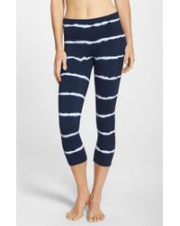 Hard Tail | Blue Tie Dye Capri Leggings | Lyst