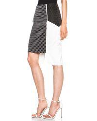 Jonathan Simkhai - White Diamond Poly Jacquard Layer Skirt - Lyst
