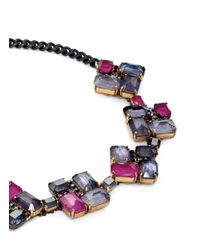 Erickson Beamon | Blue 'velvet Underground' Square Jewel Necklace | Lyst