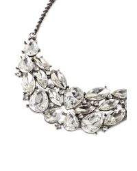 Forever 21 - Metallic Faceted Faux Gem Cluster Necklace - Lyst