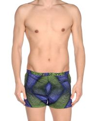 Roberto Cavalli - Green Swimming Trunk for Men - Lyst