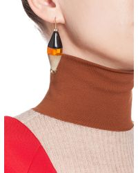 Marni | Yellow Runway Hourglass Earrings In Horn And Resin | Lyst