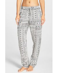 Kensie | Natural Print Lounge Pants | Lyst