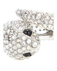 Roberto Cavalli Metallic Crystal-embellished Cuff