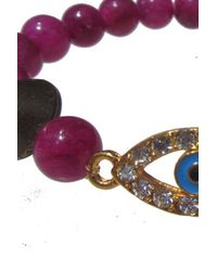 Electric Picks - Purple 'eye Spy' Bracelet - Lyst