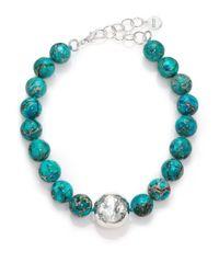 Nest | Blue Turquoise Jasper Beaded Statement Necklace | Lyst
