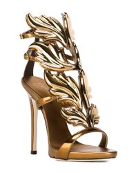 Giuseppe Zanotti - Metallic Leather Wings Sandals - Lyst