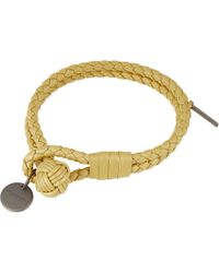 Bottega Veneta - Natural Woven Double Bracelet Oro - Lyst