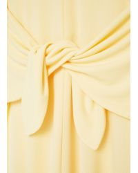 Mango - Yellow Bow Dress - Lyst