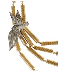 Lulu Frost | Metallic Gold-Tone Aviary Statement Necklace | Lyst