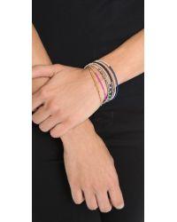 Shashi - Metallic Natasha Bracelet - White Gold/pyrite - Lyst