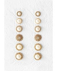 Forever 21 | Metallic Filigree Stud Set | Lyst