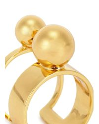 Joomi Lim | Metallic Sphere 16Kt Gold-Dipped Ring | Lyst