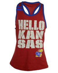 Adidas Red Girls' Kansas Jayhawks Princess Tank Top