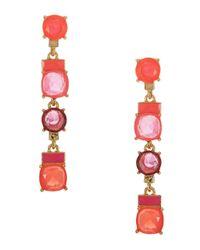 kate spade new york Pink Cause A Stir Linear Drop Earrings