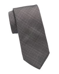 Michael Kors | Black Woven Plaid Tie for Men | Lyst