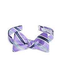 John W. Nordstrom - Stripe Silk Bow Tie - Purple for Men - Lyst