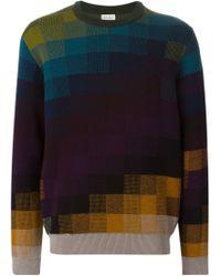 Paul Smith - Multicolor Pixel Intarsia Sweater for Men - Lyst