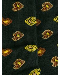 Etro | Green Paisley Intarsia Socks for Men | Lyst