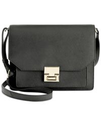 Ivanka Trump - Black Hopewell Flap Shoulder Bag - Lyst