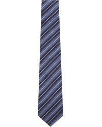 Lanvin - Blue Contrast Multi Strip Tie for Men - Lyst