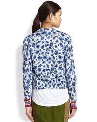 Marc By Marc Jacobs - Blue Aki Floral-Print Cotton Cardigan - Lyst