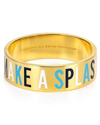 kate spade new york | Blue Everything's Going Swimmingly Idiom Bangle | Lyst