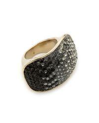 Nina Ricci - Crystal Ring - Grey/Black Multi - Lyst