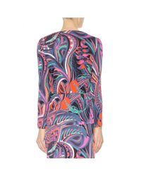 Emilio Pucci | Purple Printed Jersey Top | Lyst