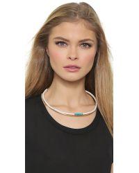 Aurelie Bidermann - Metallic Tassel Necklace - Gold - Lyst
