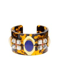 J.Crew | Blue Tortoise and Stone Cuff | Lyst