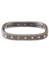 Moritz Glik Metallic Blackened Silver Bracelet