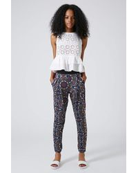 TOPSHOP Multicolor Kaleidoscope Jersey Tapered Trousers