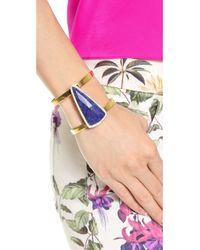 Juicy Couture Metallic Large Gemstone Cuff Bracelet Gold