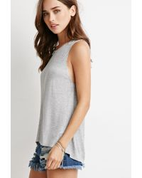 Forever 21 - Gray Center-seam Ribbed Tank - Lyst