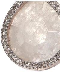 Monica Vinader - Pink Rose Diva Lotus Drop Earrings - Lyst