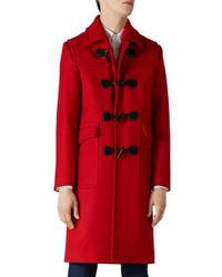 Gucci - Red Montgomery Wool Twill Coat for Men - Lyst