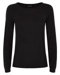 Jaeger Black Gostwyck Long Sleeved Sweater