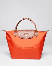 Longchamp Orange Le Pliage Mini Tote