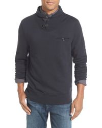 Billy Reid Black 'shiloh' Shawl Collar Pullover Sweater for men