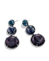 David Yurman - Purple Triple-drop Earrings - Lyst