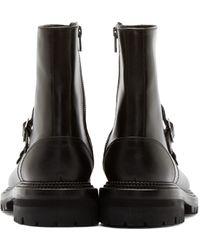 Yang Li Black Monk Strap Ankle Boots for men