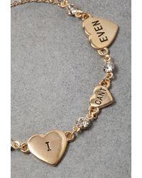 Forever 21 Metallic Flash Trash Cant Even Charm Bracelet